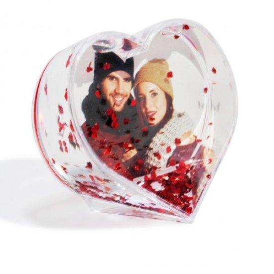 Inima Personalizata cu Poza de Cuplu