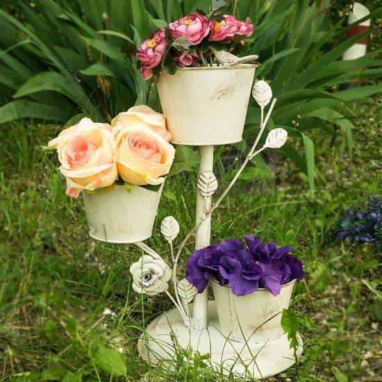 Suport ghivece flori antichizat Elisabeta