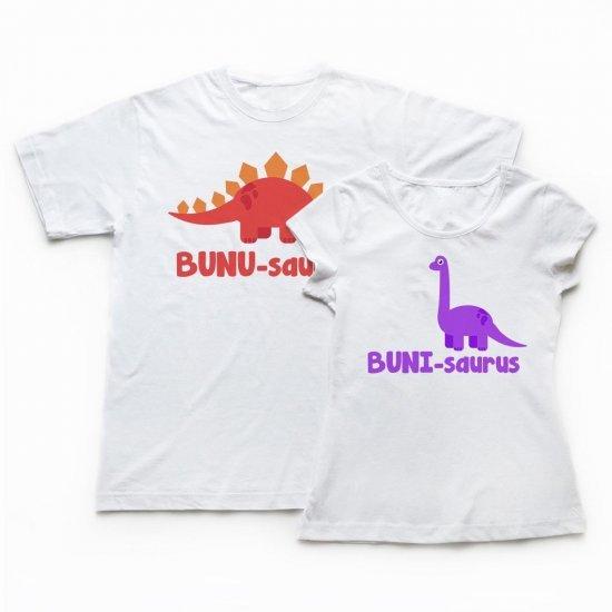 Set Tricouri Bunici cu Desen Dinozauri