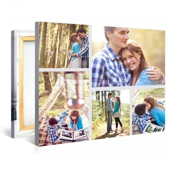 Tablou Personalizat cu 5 Fotografii de Cuplu