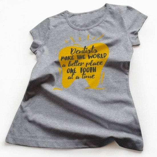 Tricou Femei Mesaj pentru Stomatologi