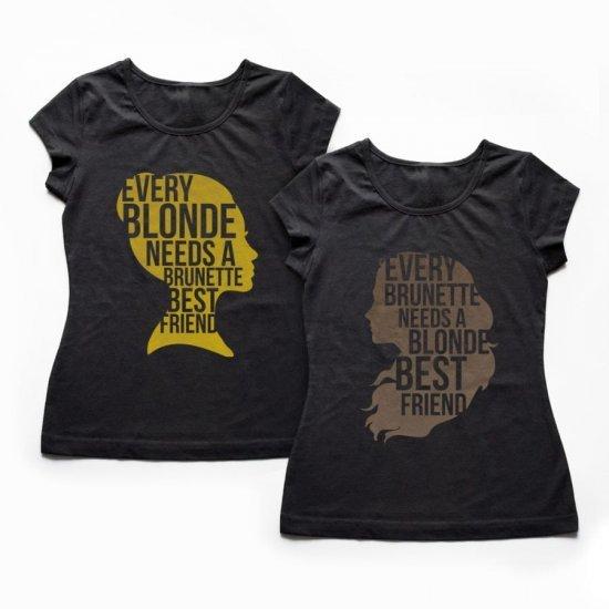 Tricouri BFF Bruneta si Blonda