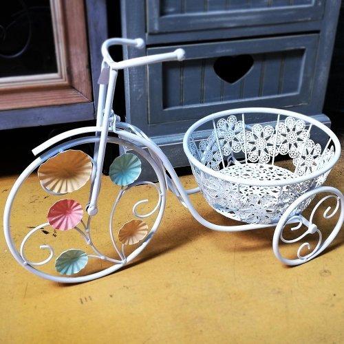 Bicicleta decorativa miniaturala cu suport pentru flori