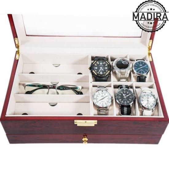 Cutie de ceasuri, ochelari si bijuterii Cora