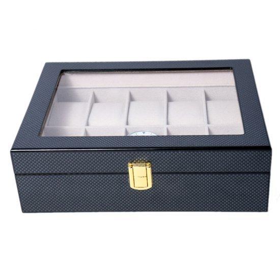 Cutie din lemn pentru 10 ceasuri Selena