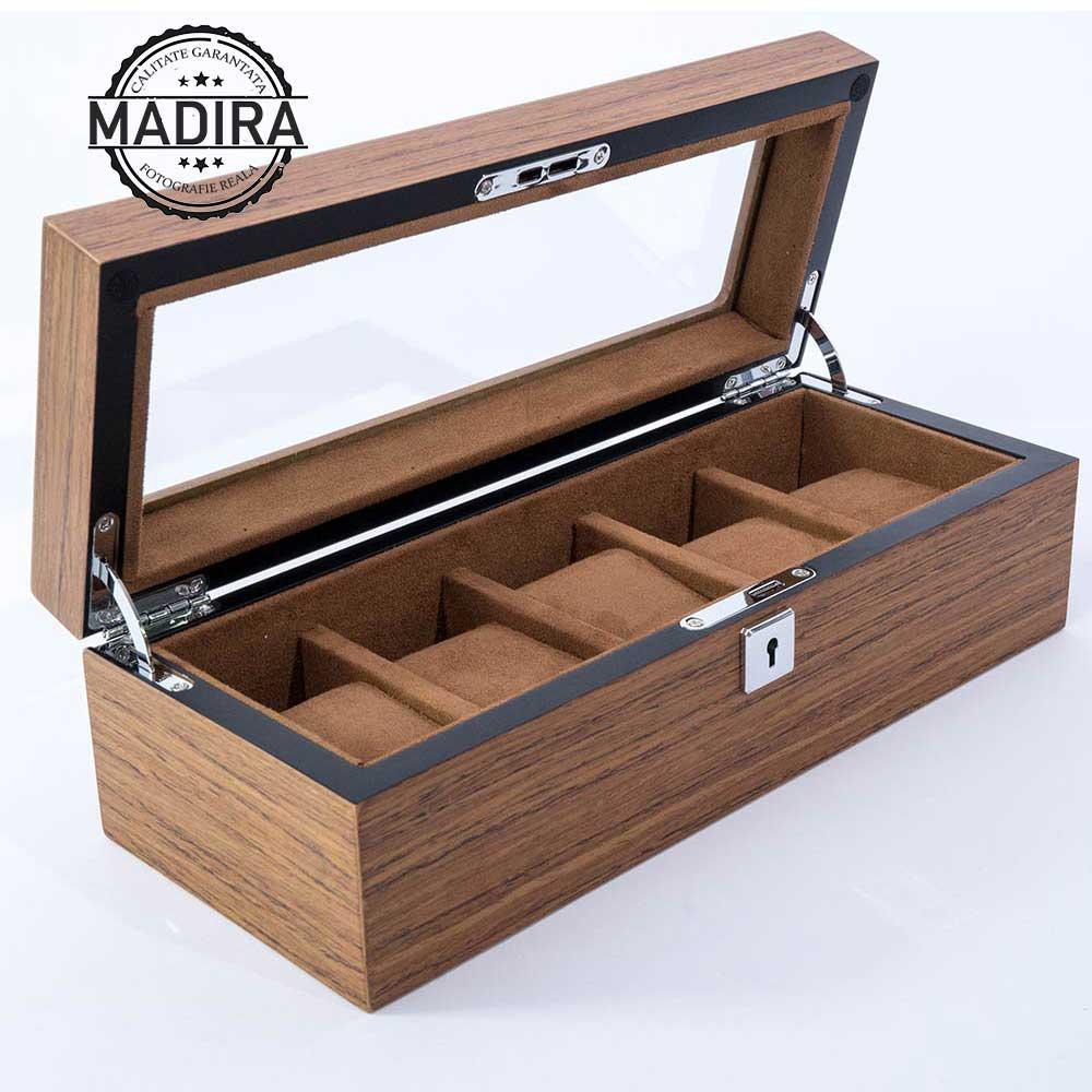 Cutie pentru 5 ceasuri din lemn Grinno