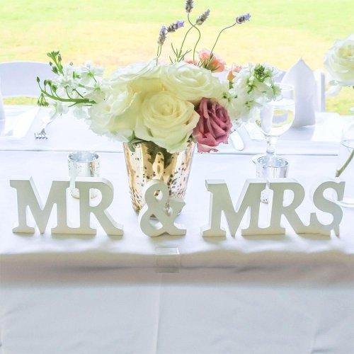 Litere 3D Mr - Mrs pentru masa mirilor - Mari