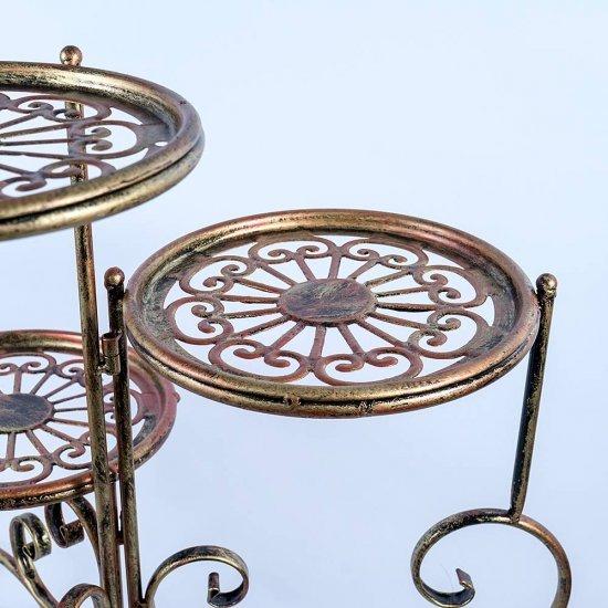 Suport metalic pentru ghivece de flori Calipso