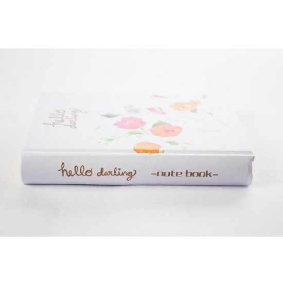 "Agenda alba ""Hello darling"" cu flori colorate"