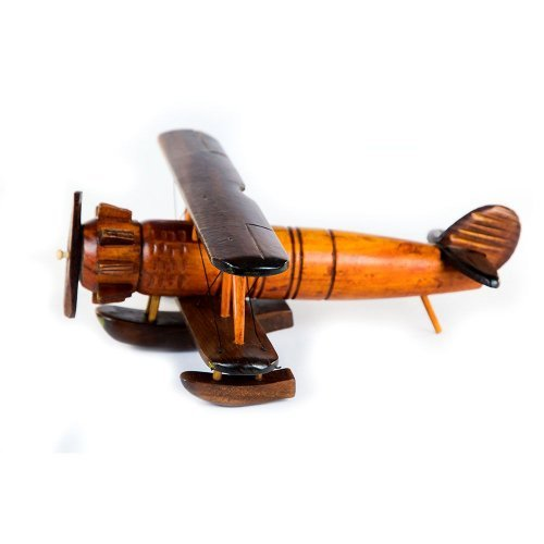 Avion Biplan, Macheta Din Lemn Pentru Pasionati