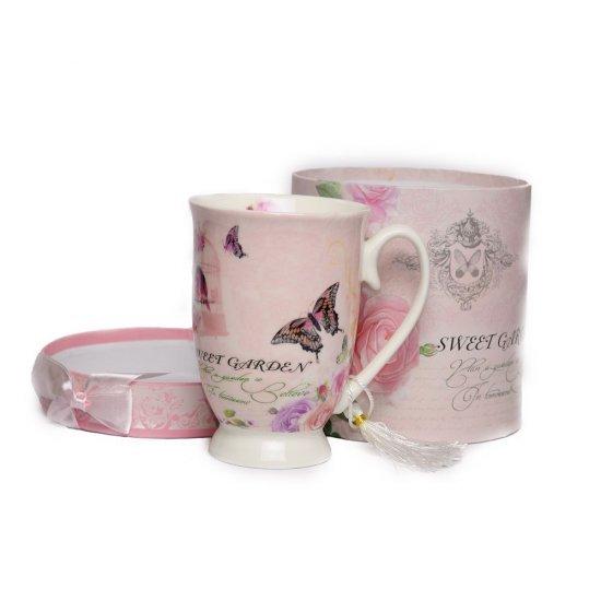 Cana pentru ceai, din ceramica, Sweet Garden