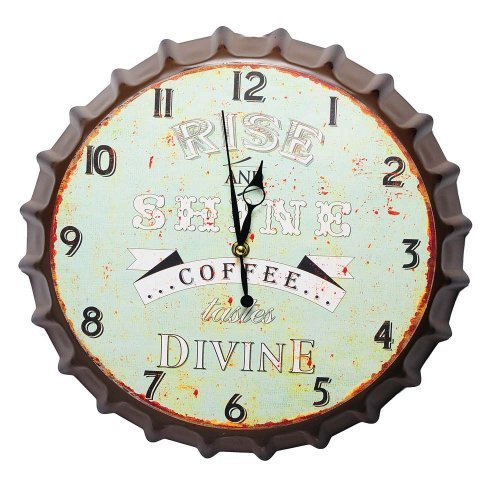 Ceas de perete, capac de bere, model vintage