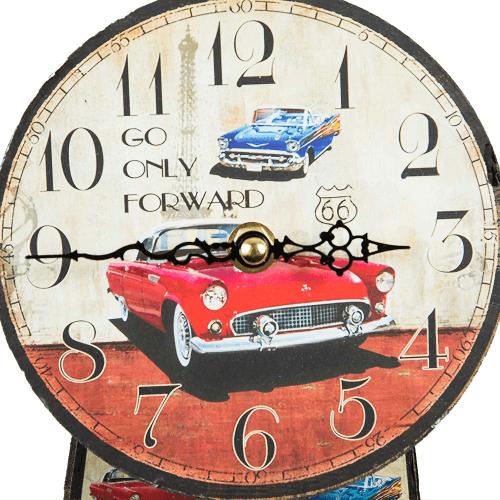 Ceas rotund, de perete, cu pendul, model Cadillac