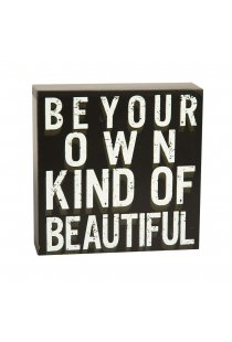 "Cub decorativ ""Be your own kind of beautiful"", stil vintage"