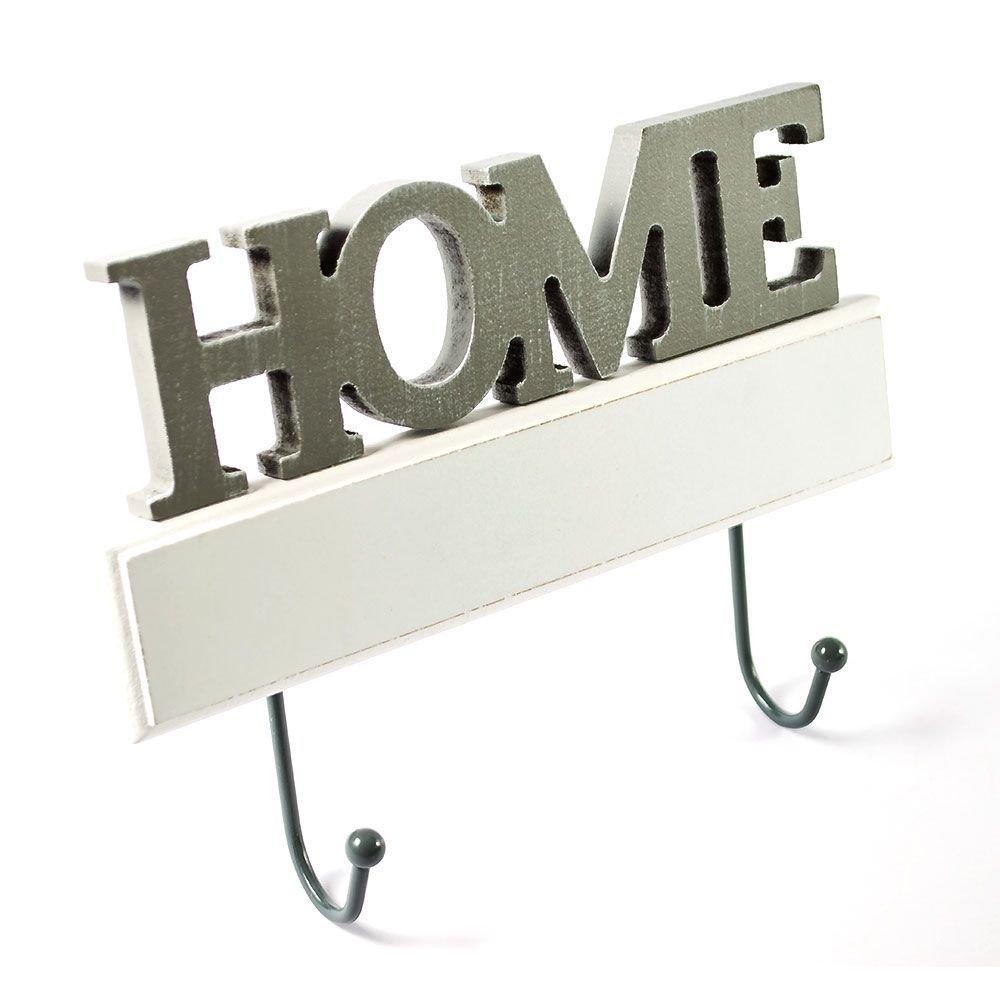 "Cuier vintage ""Home"" din lemn"