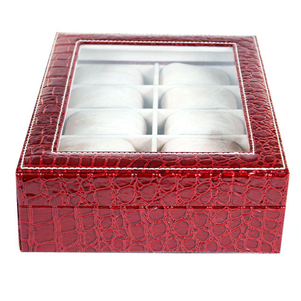 Cutie visinie, pentru 10 ceasuri, cu imprimeu crocodil