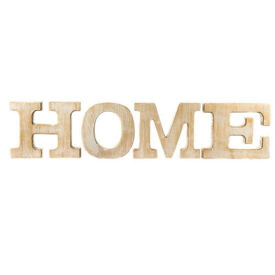 "Decoratiune, din lemn, ansamblu din 4 litere ""Home"""