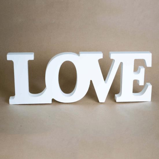 Litere 3D LOVE - decoratiune de nunta