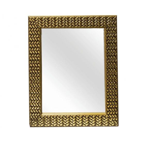 Oglinda dreptunghiulara cu rama aurie