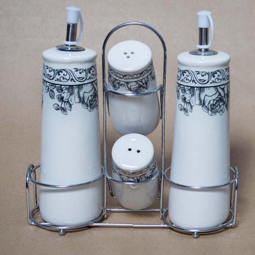 Oliviera completa, din ceramica, cu accesorii pentru bucatarie