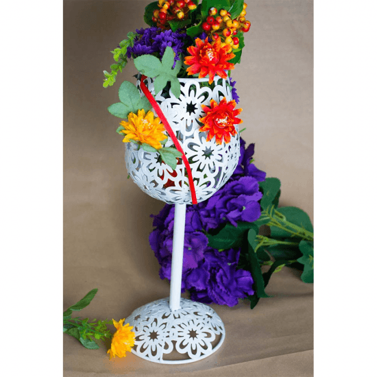 Pahar suport pentru aranjamente florale - Decoratiune nunta