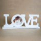 Rama foto 3D LOVE, model alb