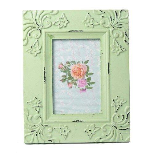 Rama foto verde cu motive florale in relief