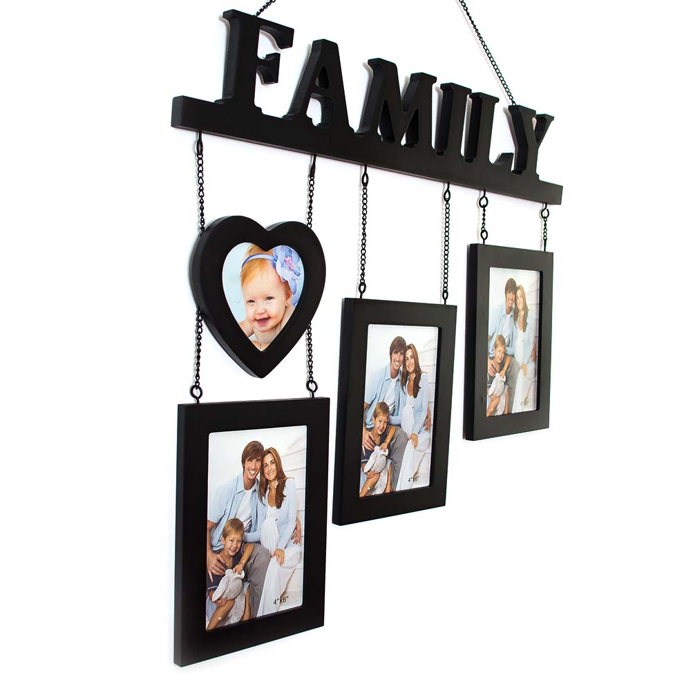 Set 4 rame foto Family, model negru