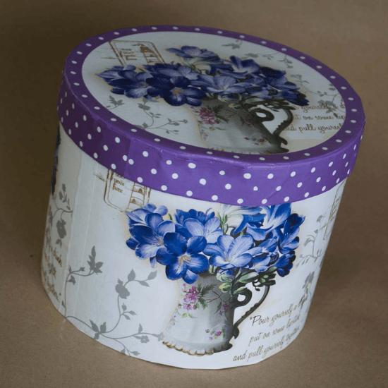 Set ceainic si ceasca, model floral mov