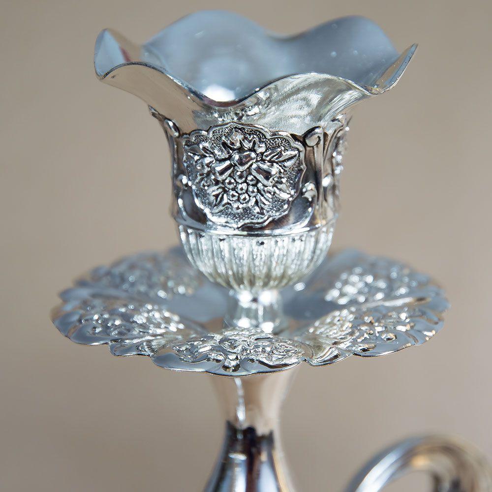 Sfesnic deosebit, argintiu, cu 3 brate