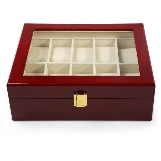 Cutie eleganta, din lemn, pentru 10 ceasuri