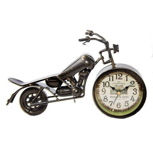 Motocicleta vintage cu ceas in roata