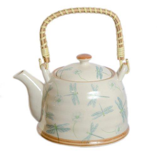 Ceainic Din Ceramica, Decorat Cu Libelule