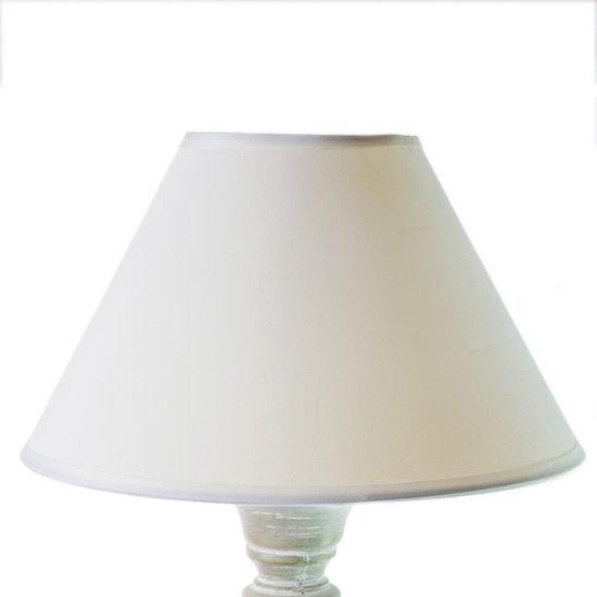Lampa vintage alba cu abajur