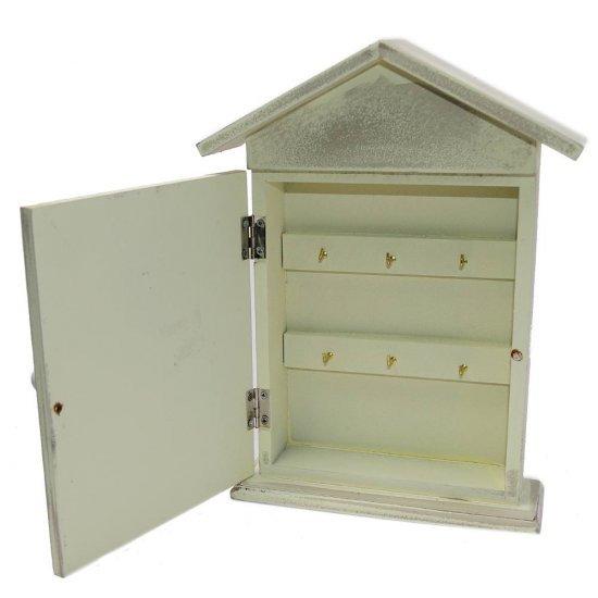 Cutie pentru chei cu design lavanda si 6 agatatori