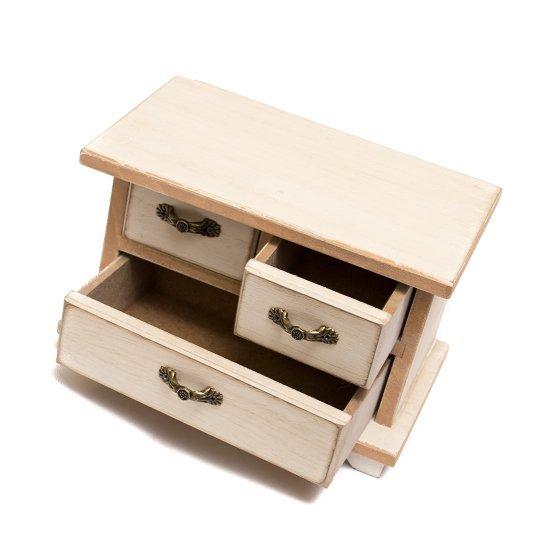 Dulapior, pentru bijuterii, cu 3 sertare