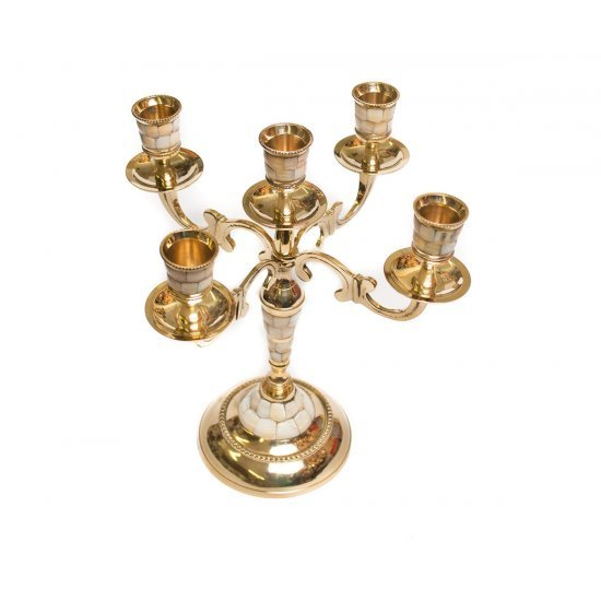 Sfesnic rafinat, auriu, cu 5 brate