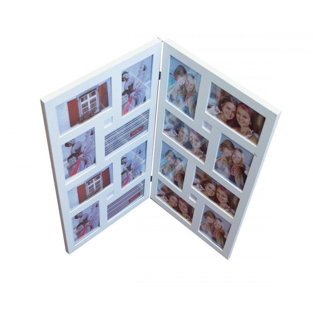 Suport tip carte, din lemn, pentru 16 fotografii