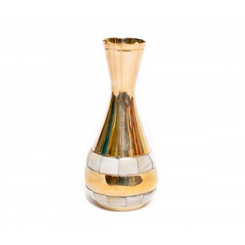 Vaza eleganta, din alama, decoratiune de interior