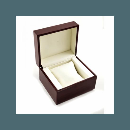 Cutie eleganta din lemn maro pentru un ceas