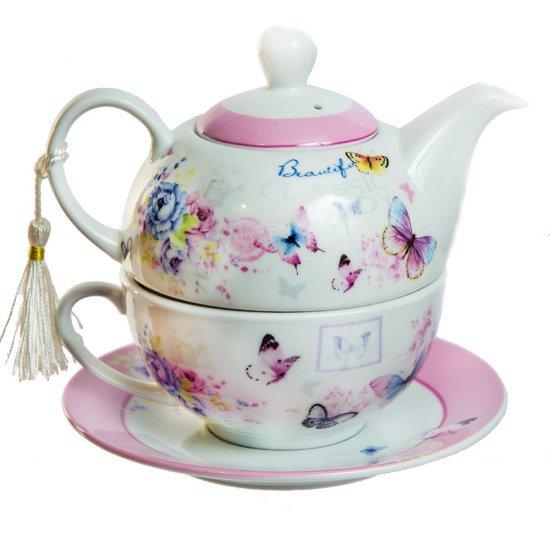 Ceainice deosebit set de ceai, din ceramica, model fluturi
