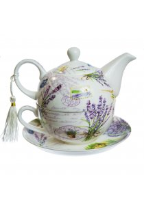 Set Tea for One, model timbre postale si lavanda
