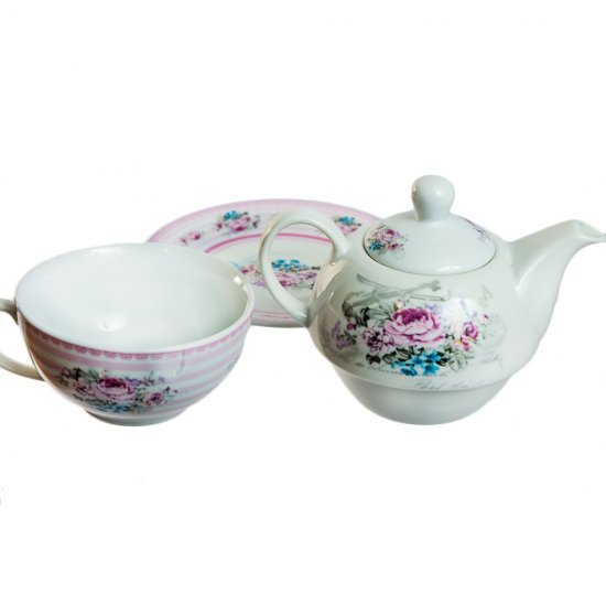 Set de ceai Tea For One din ceramica cu trandafiri