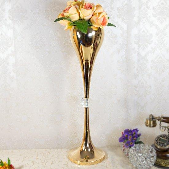 Sfesnic auriu, suport lumanare cu accesoriu cristal