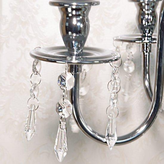 Sfesnic elegant cu 5 brate inguste si cristale
