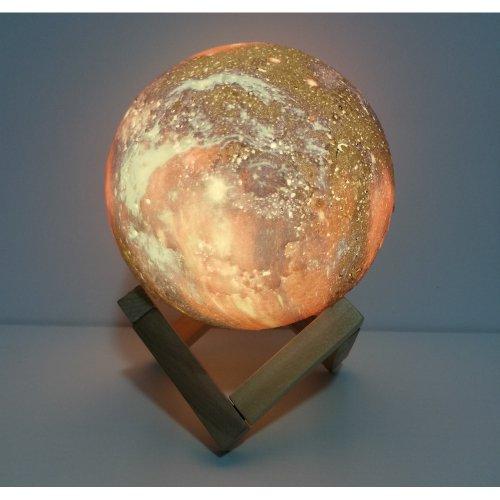 3D Moon Lamp - Lampa Luna Cu Baterie