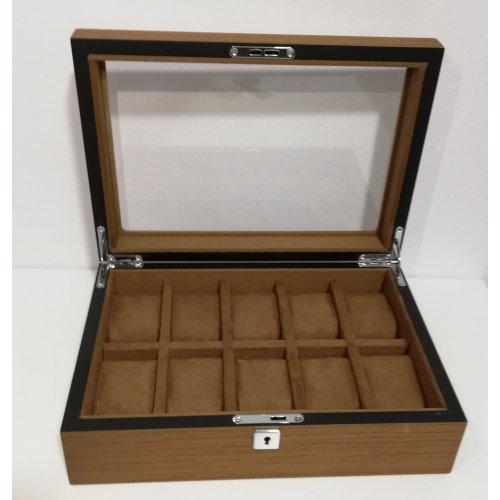 Cutie Luxury din lemn masiv pentru 10 ceasuri
