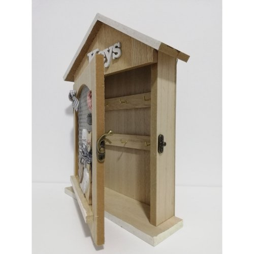 Cutie chei din lemn cu pisicute