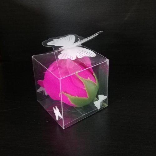 Cutiuta Acetofan Fluture 5X5X5Cm Pentru Trandafiri Sapun