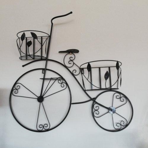 Bicicleta decorativa de perete, suport pentru ghivece cu flori